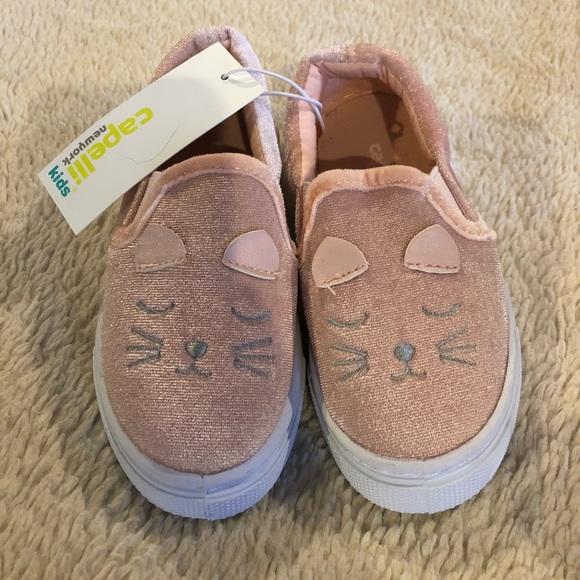 Capelli Kids Girls Kitty Slip In Shoes